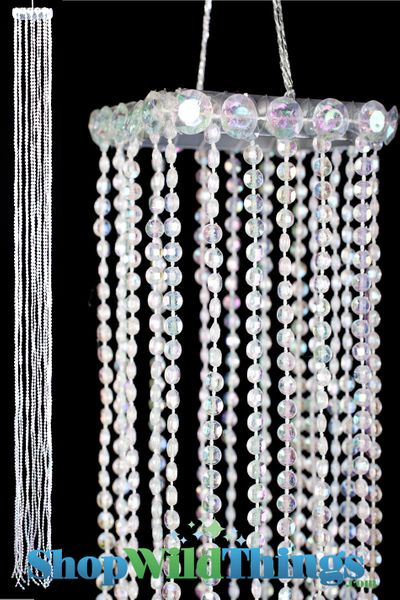 COMING SOON! Acrylic Streamer Tassels  Baby  - Crystal Iridescent 40""