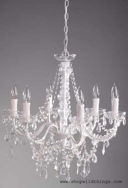 Chandelier Aliana White Crystal 22 X 17 6 Lights