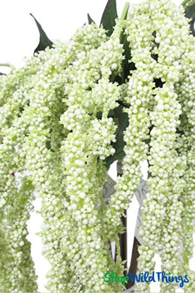 "COMING SOON! Amaranthus Spray - 39"" Cream/Green Dangling Floral Spray"