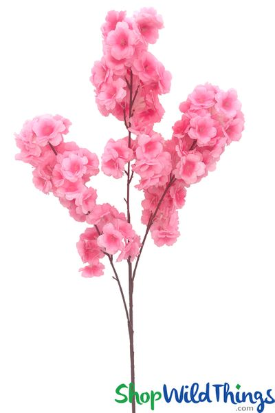 "COMING SOON! Dogwood Blossom Branch -  42"" Long - Bendable - Pink"