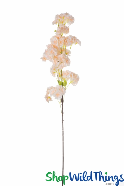 "Flowering Tree Branch -  41"" Tall - Bendable - Soft Peach"