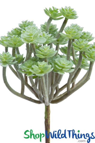 Artificial Green Velvet Succulent - 10""
