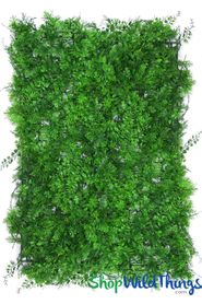 "Artificial Leaves Mixed Foliage Greenery Wall Mat - 24"" x 16"""