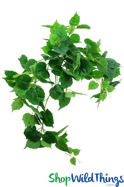 Silk Philodendron Ivy Spray - 9 Stem Bush - 34""