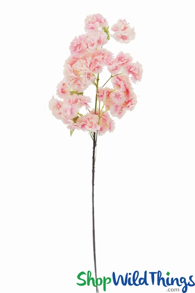 "Flowering Tree Branch -  41"" Tall - Bendable - Pink & Cream"