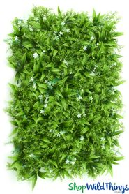 "Assorted Greenery & White Flowers Wall Mat - 24"" x 17"""