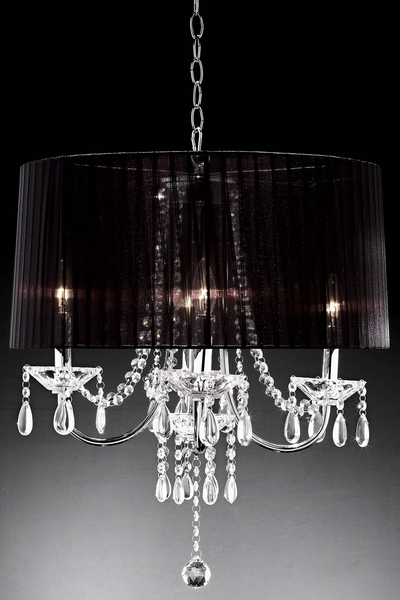 "Chandelier ""Ayre"" Real Crystals - 15"" x 20"" - 4 Lights - Hardwire"