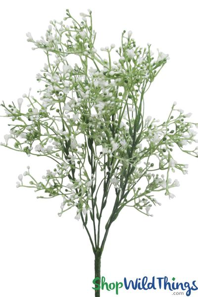 "Baby's Breath White Flower Spray - 16"" Bendable Bouquet"