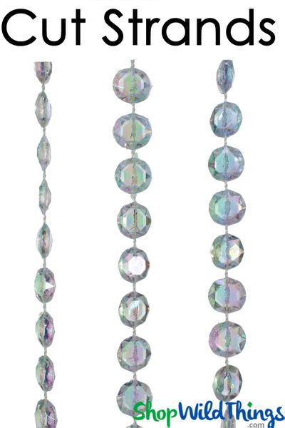 Coming Soon - Bag O' Beads - Diamonds Crystal Iridescent 3' Long Remnants - 510 Feet!