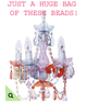COMING SOON! Bag O' Beads - Pastel Gypsy Gems - Strands & Pendants - 5 1/2 Lbs.