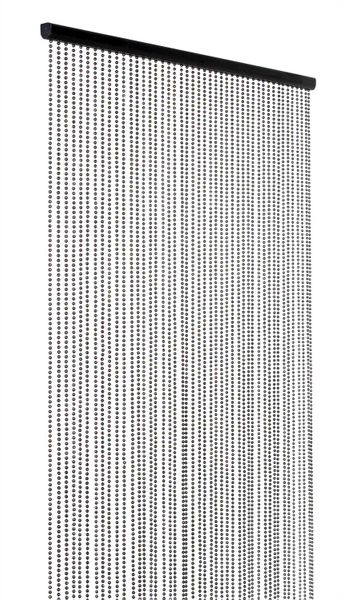 Ballchain Faux Metal Beaded Curtains - Gunmetal - 3 ft x 6 ft