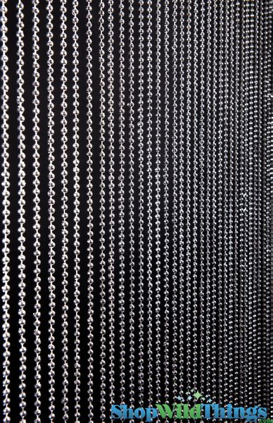 Ballchain Faux Metal Beaded Curtains - Steel 6MM - 3 ft x 6 ft