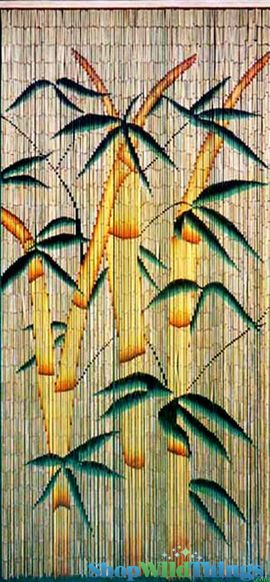 "COMING SOON! Bamboo Painted Beaded Curtain ""Bamboo Forest"" - 90 Strands"