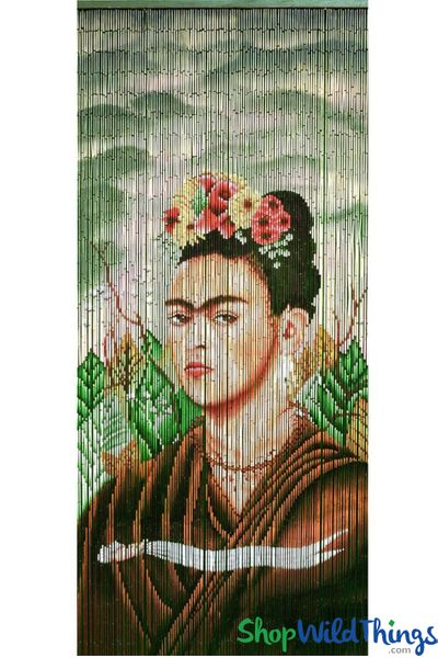 "COMING SOON! Bamboo Painted Beaded Curtain ""Frida Kahlo"" - 125 Strands"