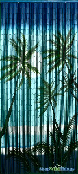 "COMING SOON! Bamboo Painted Beaded Curtain ""Kaanapali"" - 90 Strands"