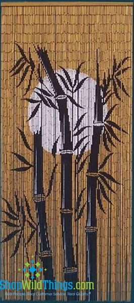 COMING SOON! Bamboo Tree & Moon Painted Beaded Curtain