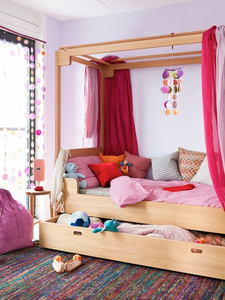Bead Curtains as Room Dividers to Showcase Space in Your Kids' Rooms