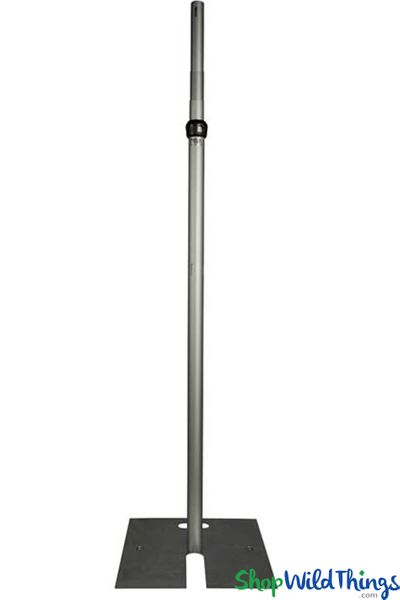 (FREE SHIPPING!) 8-14' Tall Adjustable Freestanding Riser with Base - 2 Poles (For Beaded Crystal Columns)