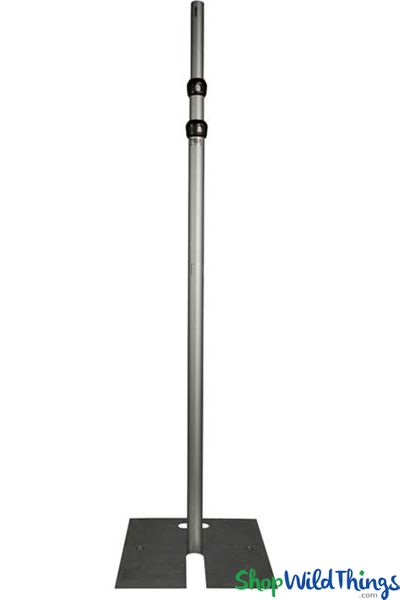 (FREE SHIPPING!) 8-20' Tall Adjustable Freestanding Riser with Base - 3 Poles (For Beaded Crystal Columns)