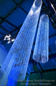 Beaded Crystal Columns