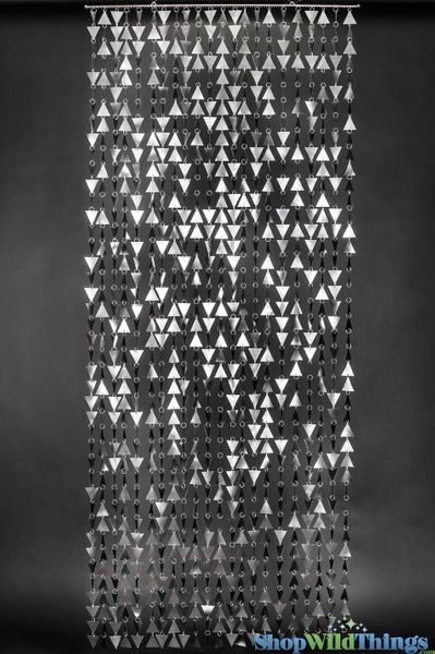 COMING SOON! Trilogy Beaded Curtain - Graphite - 3 ft x 7.5 ft Bead Curtain