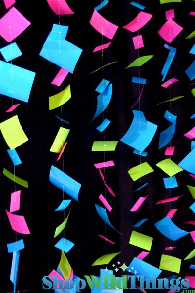 "COMING SOON! Bendable Floating ""Confetti"" PVC Curtain OR Column! MultiColor"