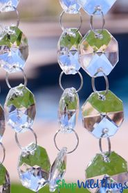 """""""Bianca"""" (7/8"""" Beads) 29 Foot Long Faceted Large Crystal Octagon Acrylic Bead Strands"""