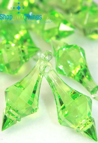 "COMING SOON! ""Bijou"" Crystal Acrylic Pendants - Bright Green - Bag of 130pcs"