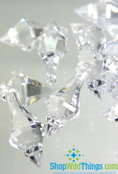 "COMING SOON! ""Bijou""  Crystal Acrylic Pendants - Clear - Bag of 130pcs 1.5"""