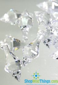 """Bijou""  Crystal Acrylic Pendants - Clear - Bag of 130pcs 1.5"""