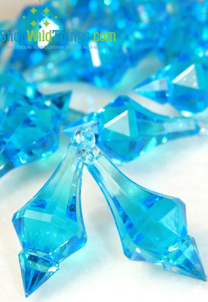 "COMING SOON! ""Bijou"" Crystal Acrylic Pendants - Turquoise - Bag of 130pcs"