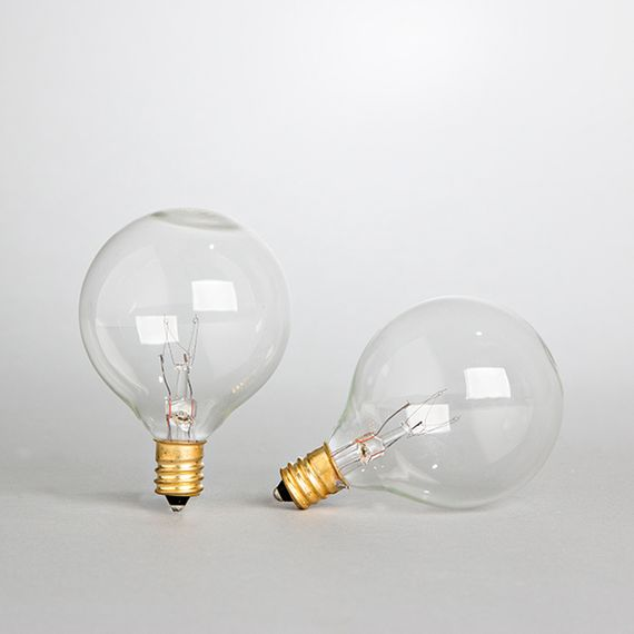 "Bistro String Light Replacement Bulbs - Clear, 2 Pack, G40 (1.5"" Bulbs)"