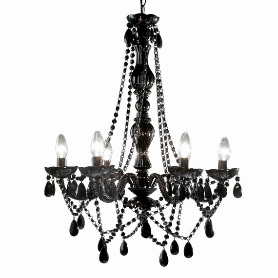 "COMING SOON! Chandelier Gypsy Black - 26"" x 22"" - 6 Lights - With Plug - Collapsible"