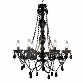 "Chandelier Gypsy Black - 26"" x 22"" - 6 Lights - With Plug - Collapsible"