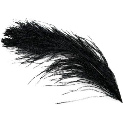 "Black Ostrich Feathers 29""-32"" - SPADS"