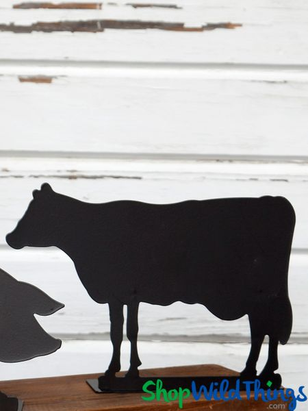 COMING SOON! Blackboard - Cow Metal Chalkboard Sign