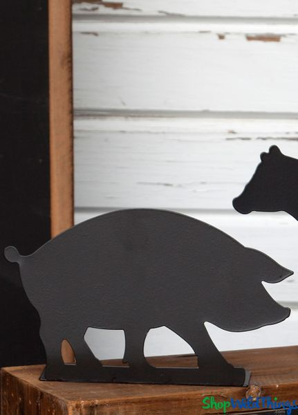 COMING SOON! Blackboard -  Pig Metal Chalkboard Sign