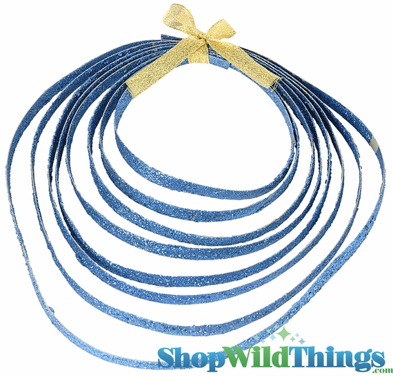 COMING SOON! CLEARANCE! Blue Glitter Rope - Double Sided - 5 Yards