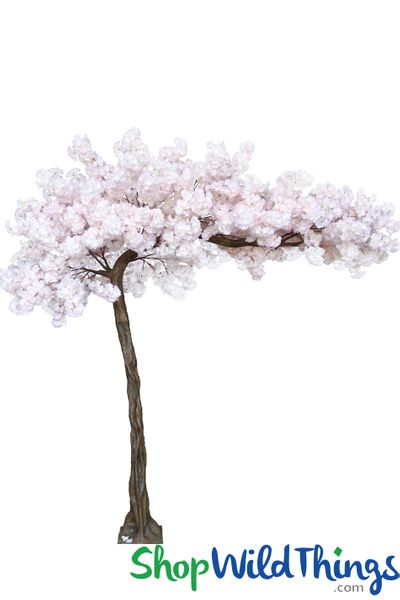 "Flowering Cherry Blossom - Soft Pink – 10.5 Feet Tall x 8 Feet Wide ""Sideswept"" – Create Arch Using 2"