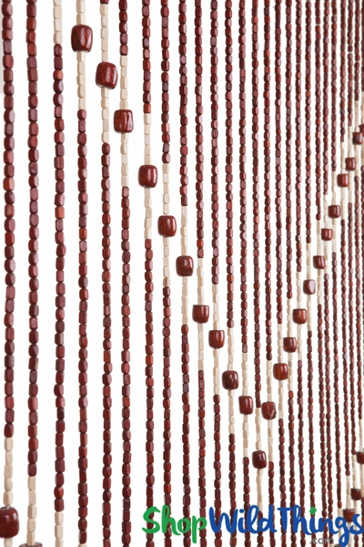 "COMING SOON! Wooden Bead Curtain - ""Ming"" - 35"" x 68"" - 27 Strands"