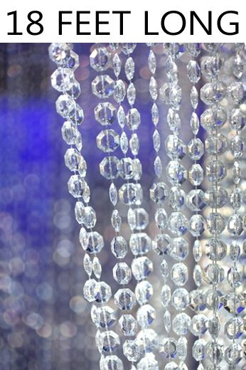 Coming Soon!  Brilliant Beaded Curtain - Clear Non-Iridescent - 3 ft x 18 ft