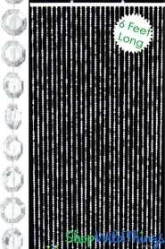 Brilliant Beaded Curtains Clear Non-Iridescent (3 Sizes: 6-18 Feet Long)