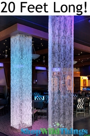 Brilliant  Square Crystal Non-Iridescent Column - 20 Feet Long - PREMIUM QUALITY BEADS!