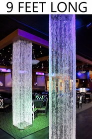 Brilliant Square Crystal Non-Iridescent Column - 9 Feet Long - PREMIUM QUALITY BEADS!