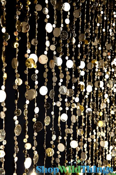 COMING SOON! Bubbles Beaded Curtain - Gold - 3 ft x 6 ft