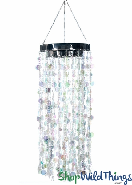 Bubbles Party Chandelier - Crystal Iridescent - 30""