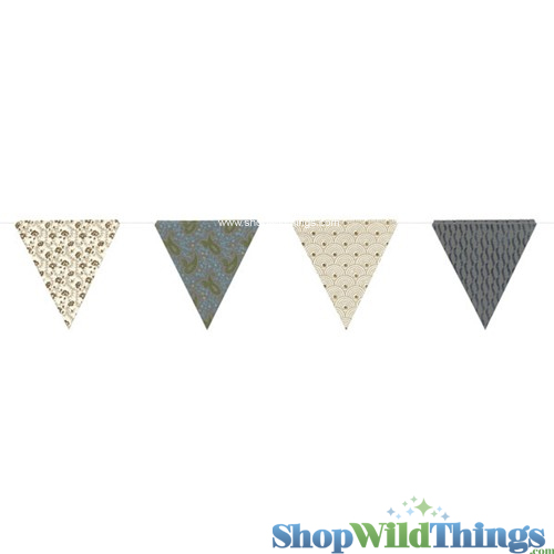 CLEARANCE! Bunting -  Paper Triangle -  Paisley Glitter - 11 Feet Long