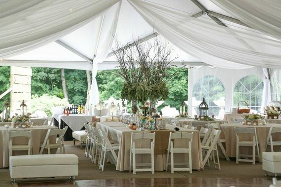 Burlap, Brooches, and Bling | Reception Tent as Outdoor Art
