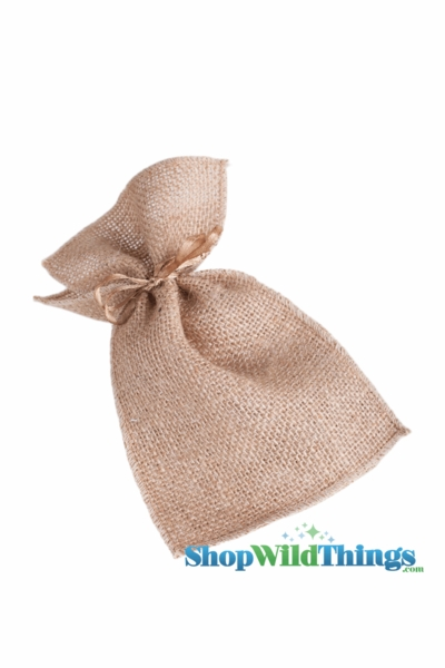 "1 LOT AVAILABLE! CLEARANCE Burlap Pouches 4"" Wide x 7"" Tall - Brown - 25 Bags of 12"
