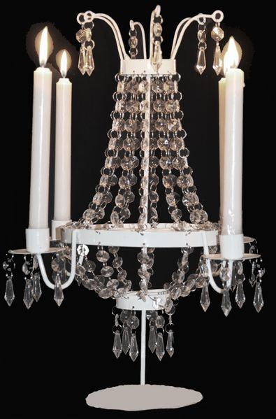 "Coming Soon - Candle Tabletop Chandelier 17""  Tall -   ""Hannah"""